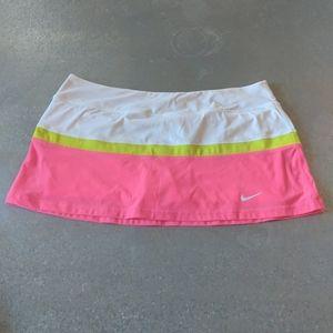 Nike NWOT Dri-Fit Tennis Skirt Skort Biker Neon XL